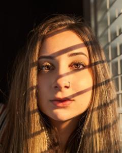 sun kissed face